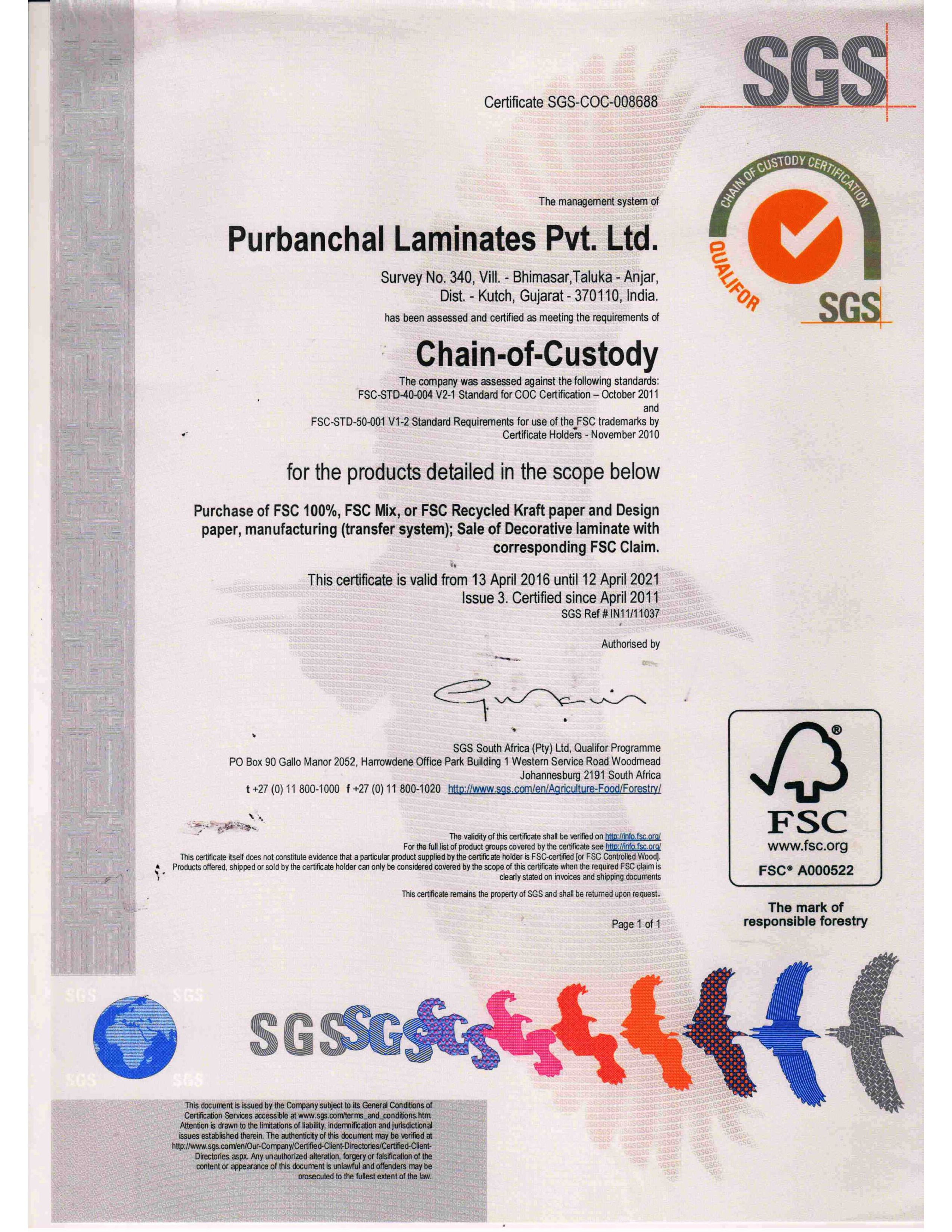 SGS (FSC-Chain-of-Custody)