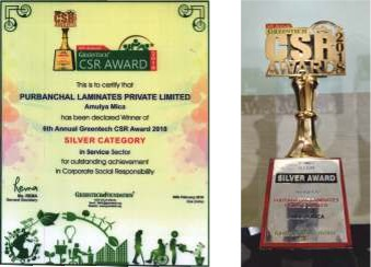 6th Greentech CSR Award 2018