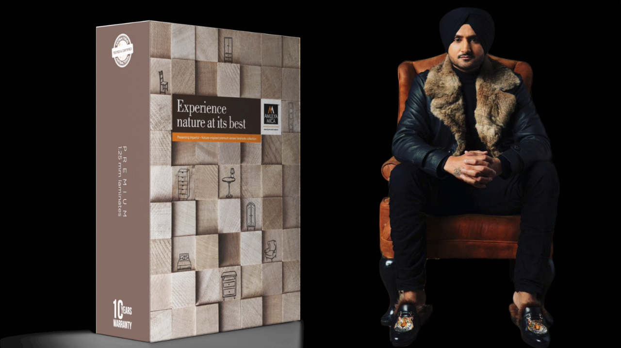 Amulya Mica Ropes In Harbhajan Singh To Launch Imperial Premium Laminates Collection